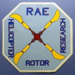 RAE Helicopter Rotor Research Sticker