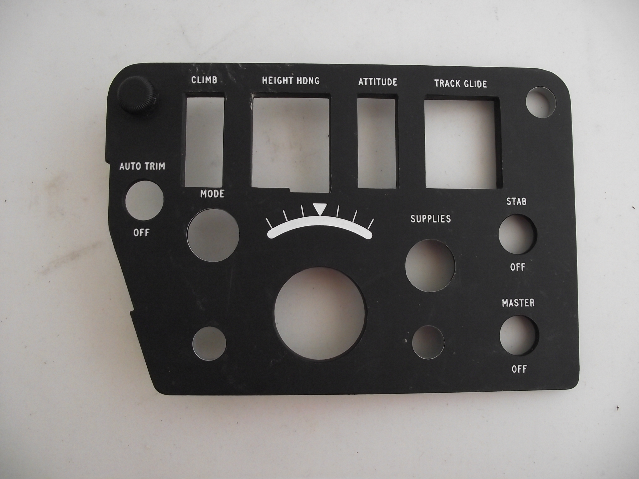 Flight Control Panel Fascia
