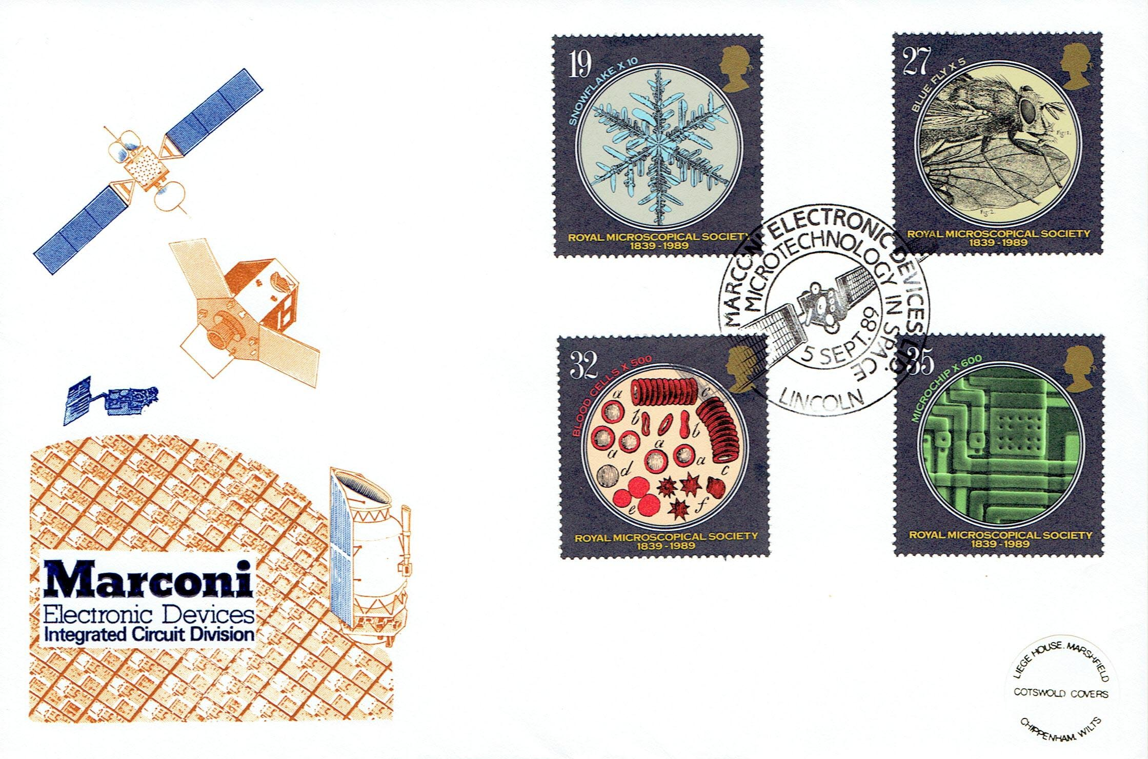 Marconi Microtechnology Stamps (first-day cover)