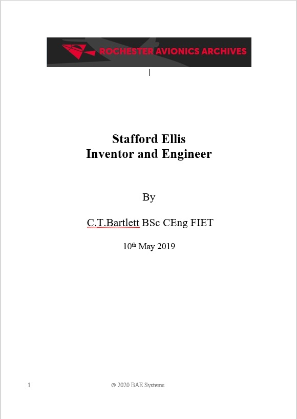 Stafford Ellis, Inventor and Engineer