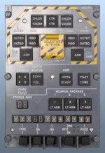 Tornado Weapon Control Panel (space model)