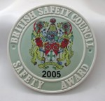 2005 Safety Award Plaque