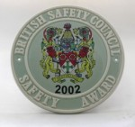 2002 Safety Award Plaque