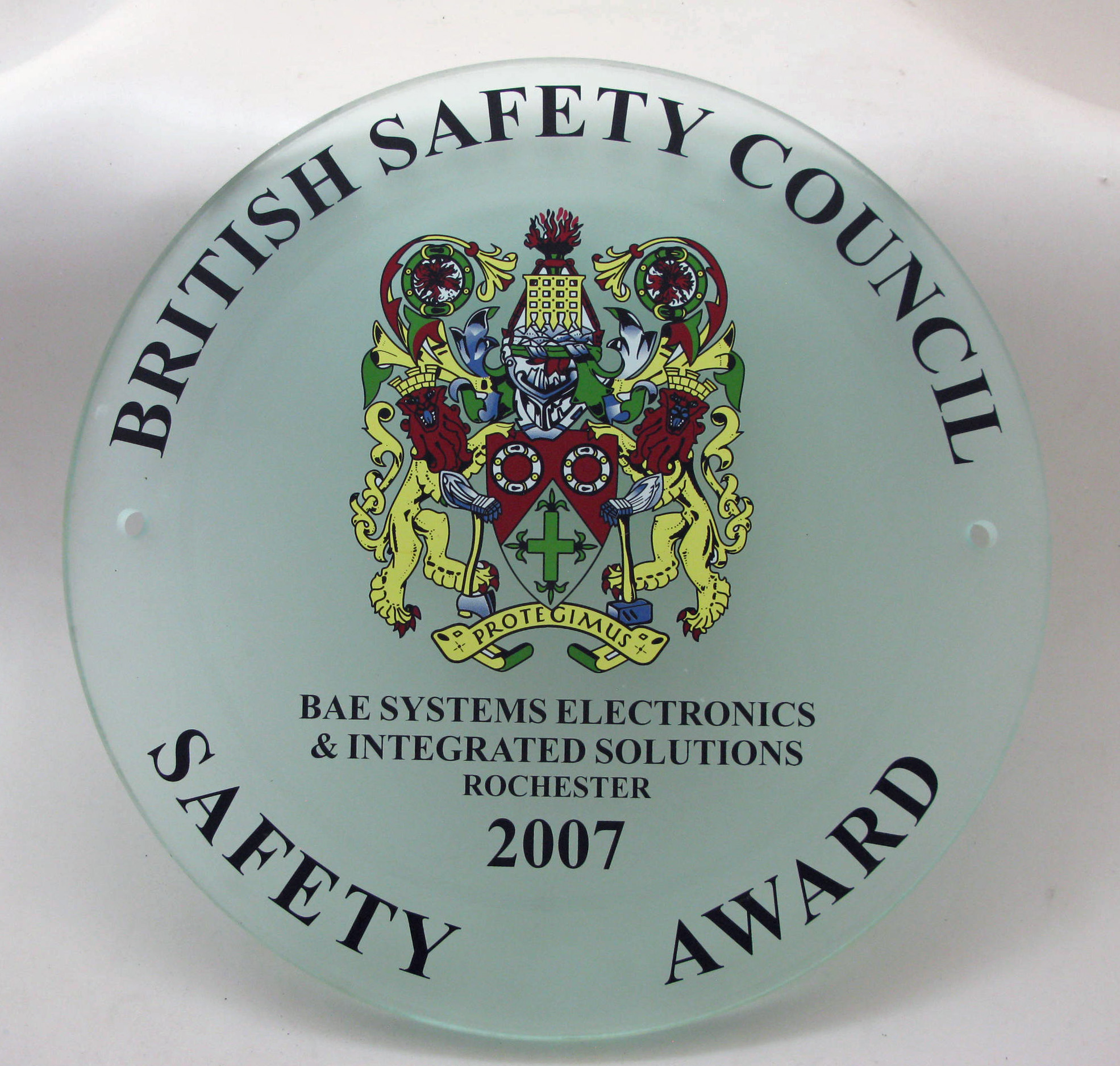 2007 Safety Award Plaque