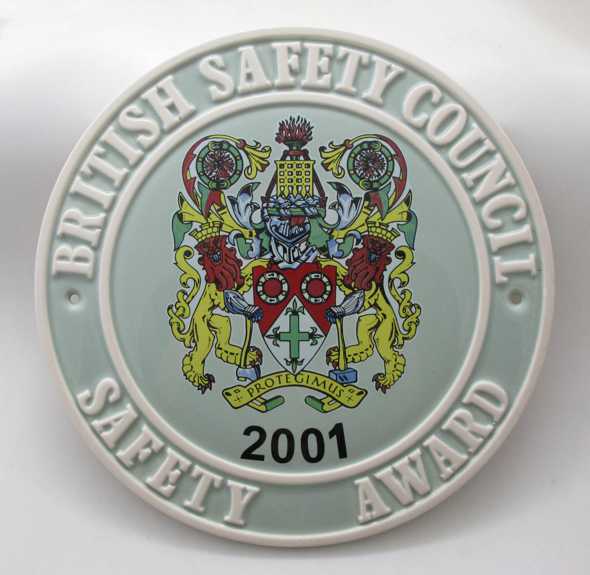 2001 Safety Award Plaque