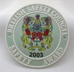 2003 Safety Award Plaque