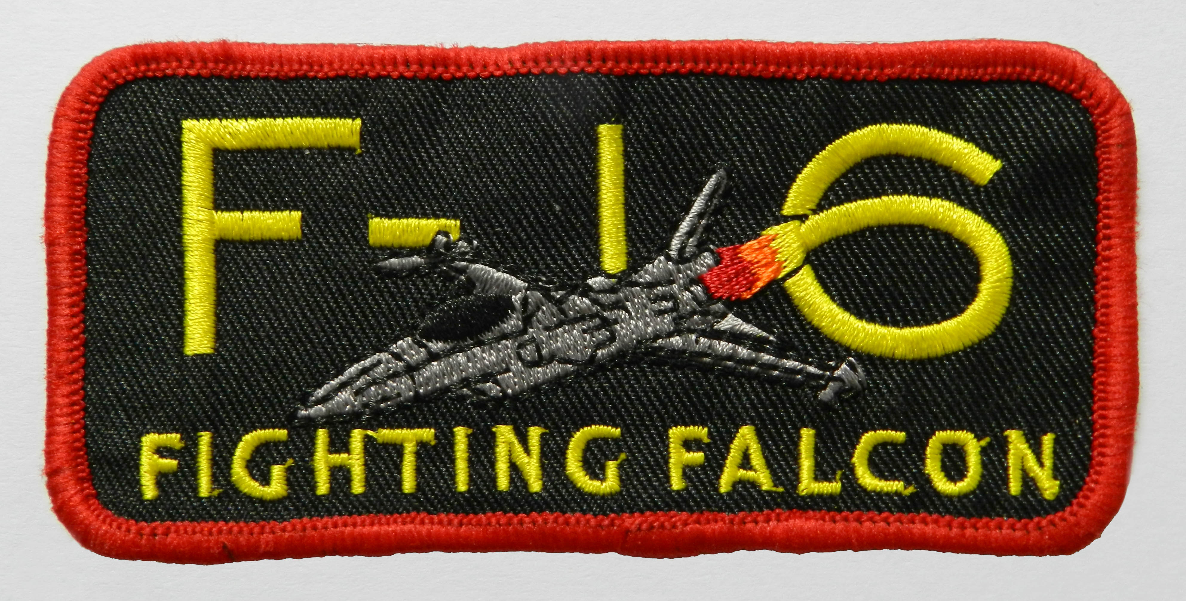 F-16 Rectangular Cloth Badge
