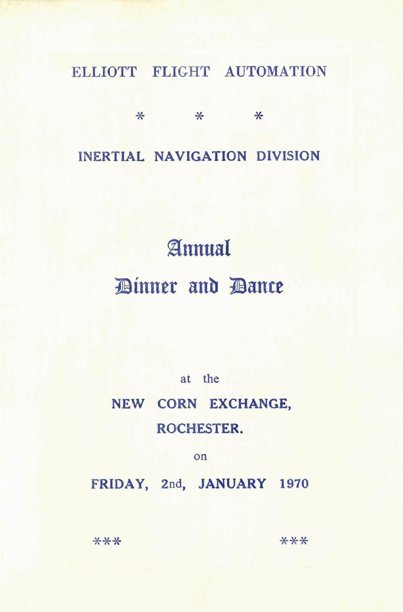 IND Annual Dinner and Dance 1970