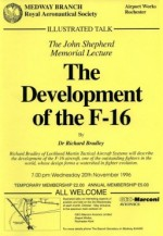 The Development of the F-16 (by Dr R. Bradley)