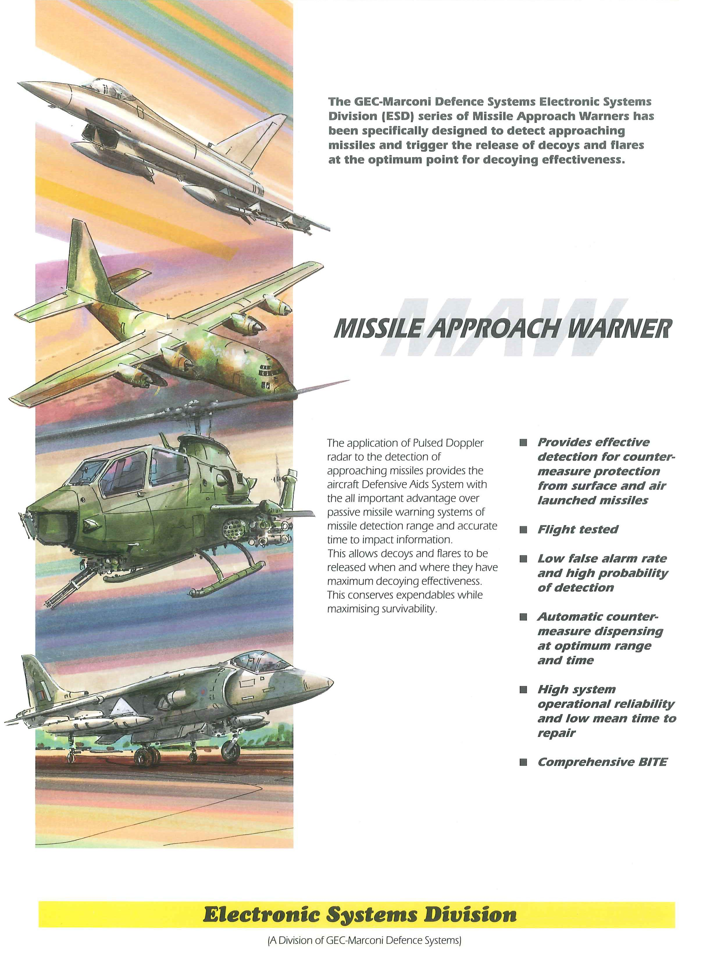 Missile Approach Warner and Advanced Missile Detection System, PVS2000