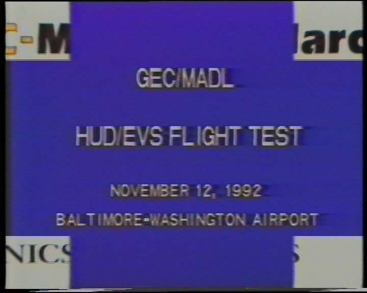 HUD/EVS Flight Tests