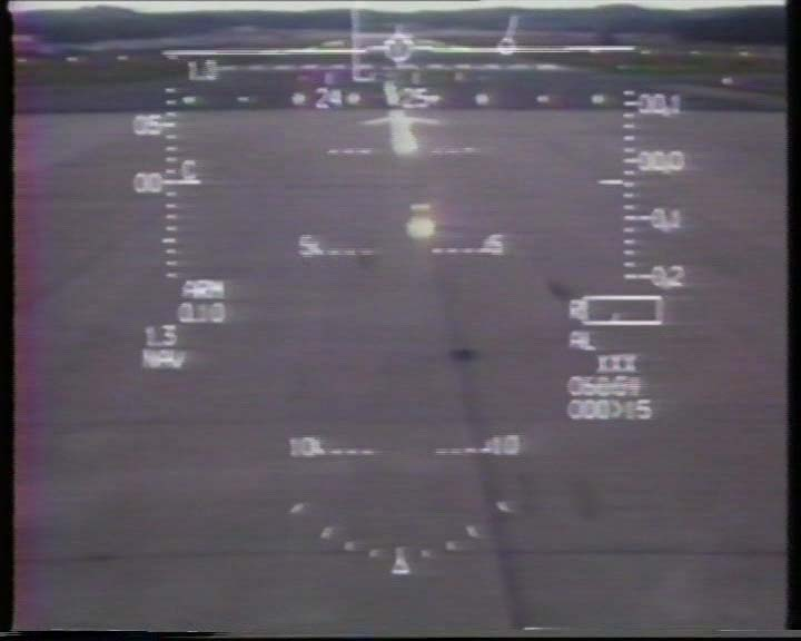 F-16 Aerobatics over Farnborough Airshow - the HUD Camera View