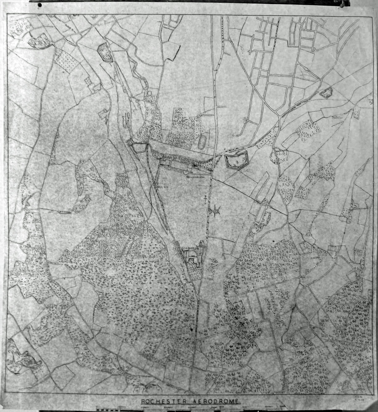 Rochester Aerodrome. Old Map