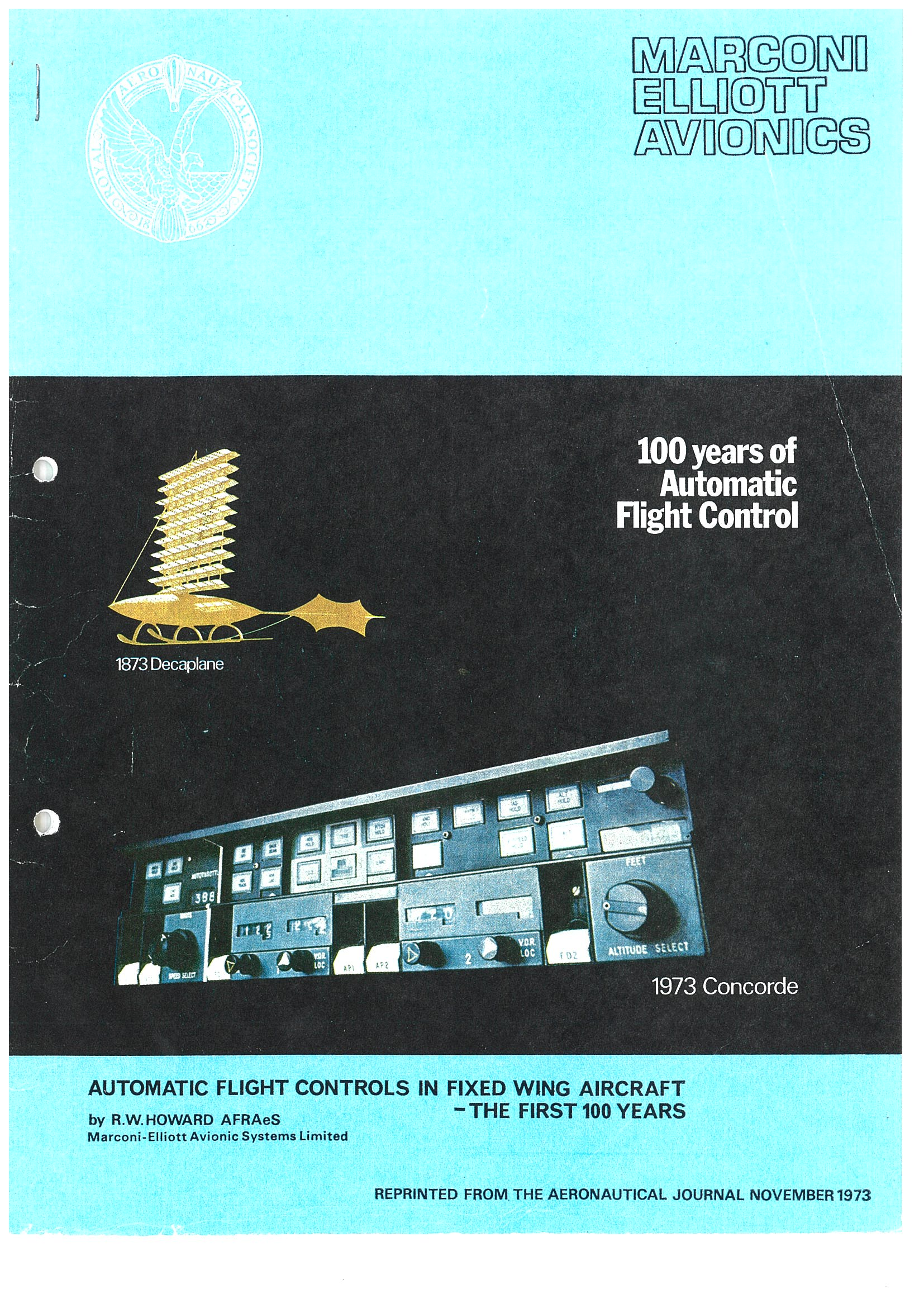 Automatic flight controls in fixed wing aircraft. The first 100 years.