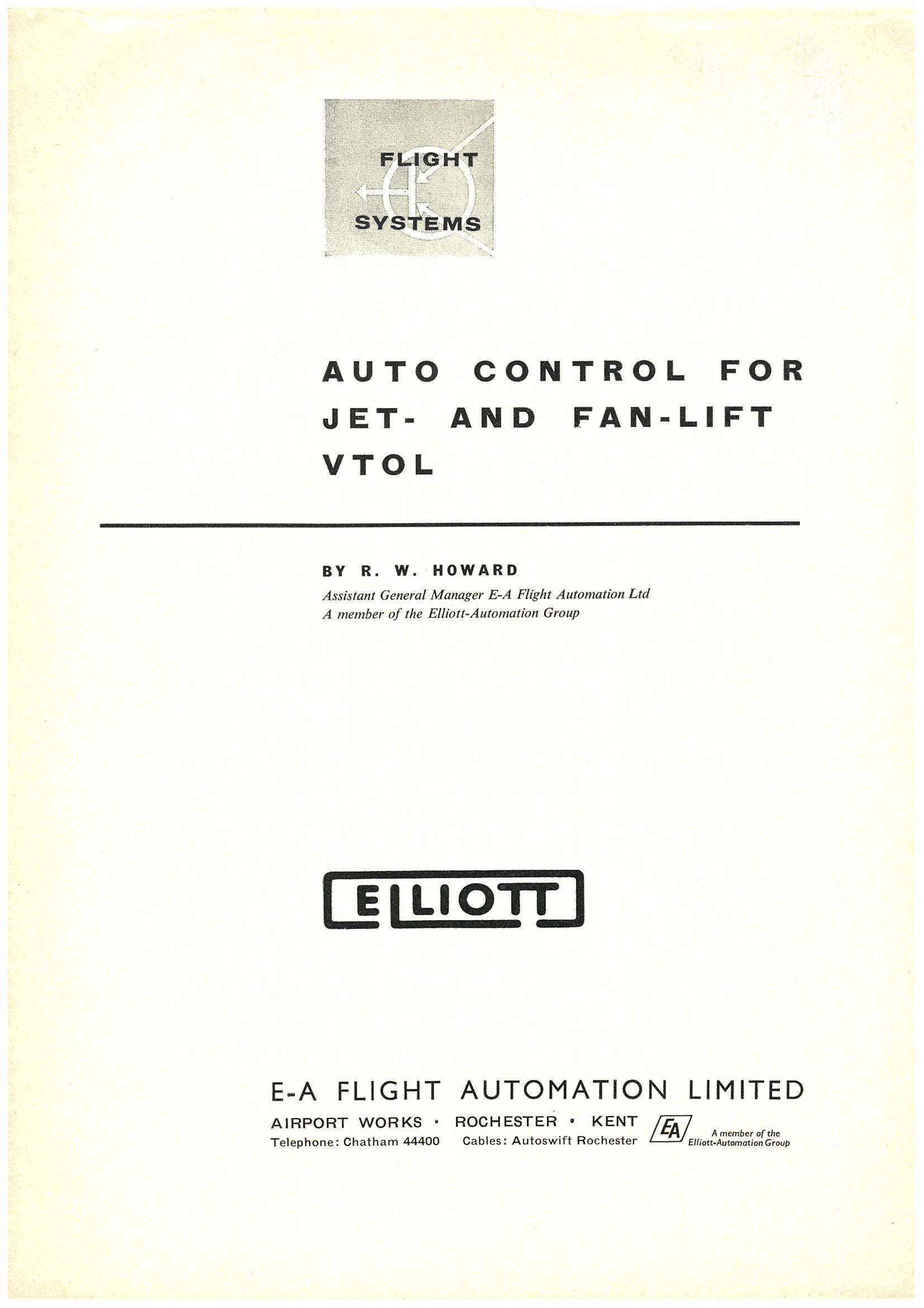 Autocontrol of jet and fan lift VTOL