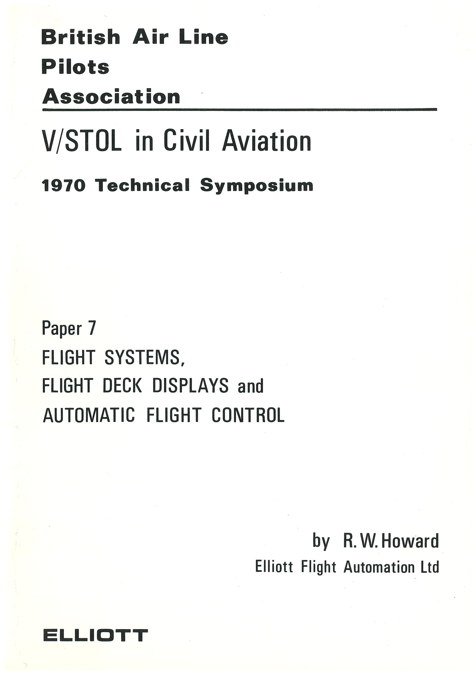 V/STOL in Civil Aviation.