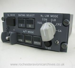 Boeing 747 Autothrottle Limit Mode Selector