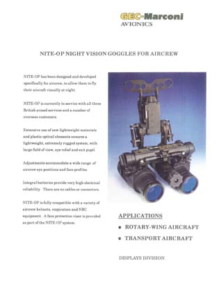 NITE-OP - Night Vision Goggles for Aircrew