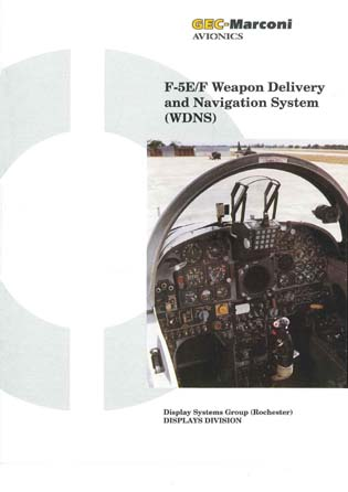 F-5E/F Weapon Delivery and Navigation System (WDNS)