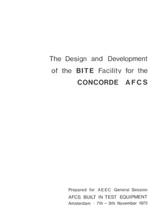 The Design and Development of the BITE facility for the Concorde AFCS