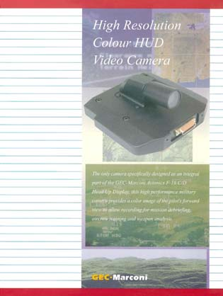 High Resolution Colour HUD Video Camera