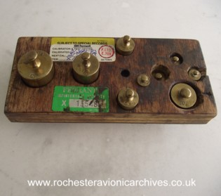 Set of small brass weights