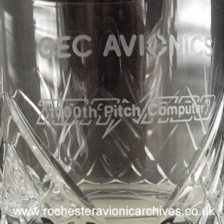 Crystal Glass for 1,000th CSAS Pitch Computer