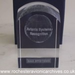 Avionic Systems Recognition crystal award
