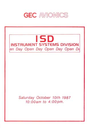 ISD - Instrument Systems Division - Open Day