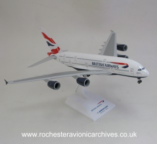 Airbus 380 model in British Airways livery