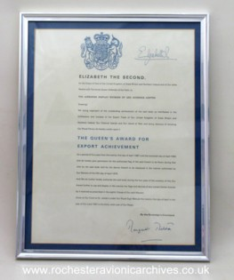 Queen's Award for Export 1987